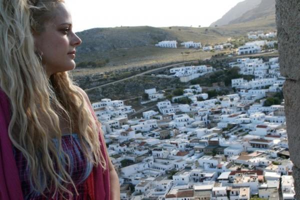 Heather Schmid in Greek Islands