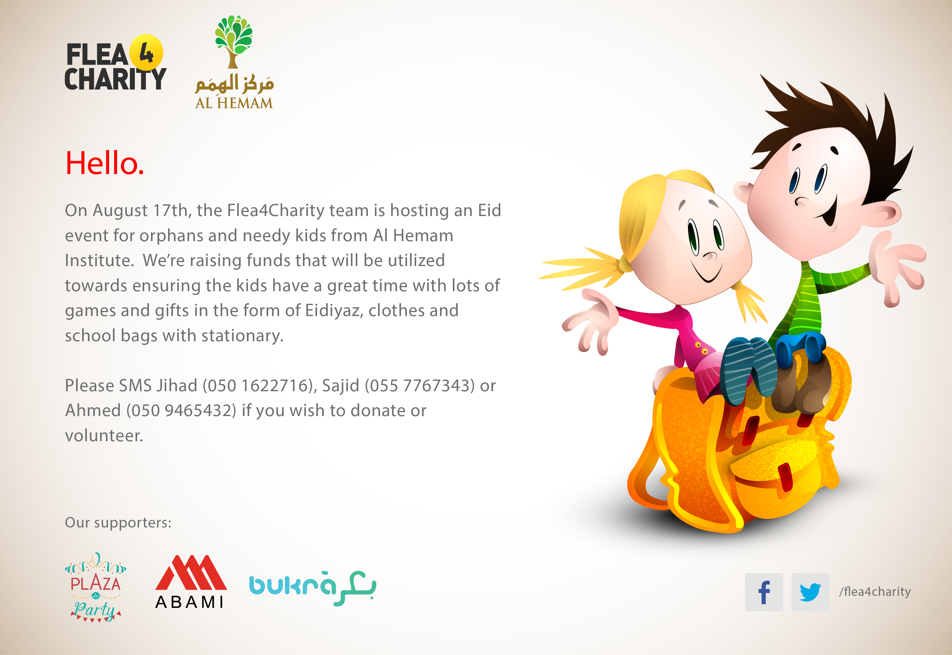 Flea4Charity Eid Event for Al HEMAM Institute