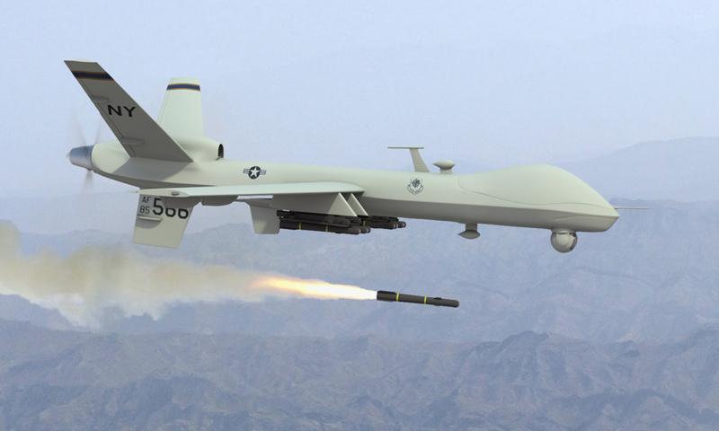 Drone strike in N Waziristan kills two, injures one
