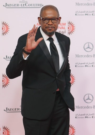 American actor, producer, and director Forest Whitaker arrives to attend the opening ceremony of the Abu Dhabi Film Festival (ADFF) on October 24, 2013 at the Emirates Palace Hotel in Abu Dhabi. AFP PHOTO / STR