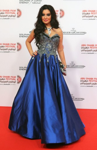 Moroccan actress Maysa Maghribi poses as she arrives to attend the opening ceremony of the Abu Dhabi Film Festival (ADFF)on October 24, 2013 at the Emirates Palace Hotel in Abu Dhabi. AFP PHOTO STR