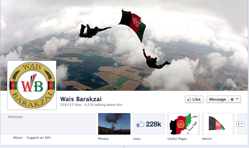 Facebook Page Wais Barakzai