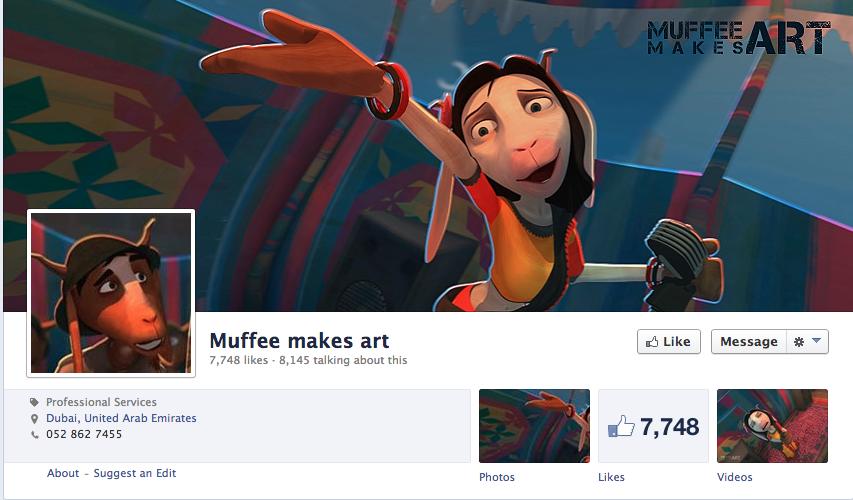 Muffee makes art