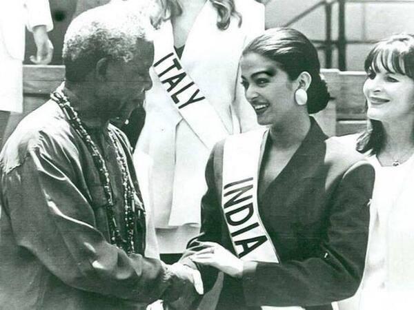 Aishwarya Rai and Nelson Mandela (Facebook)