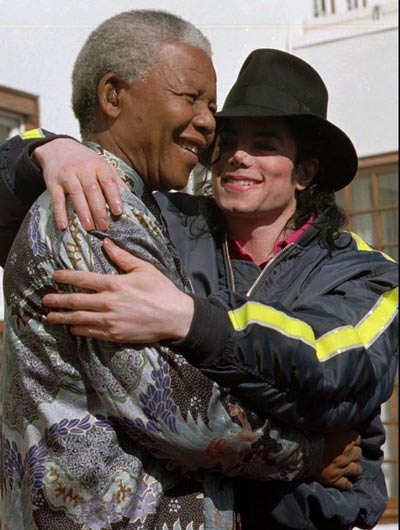 Michael Jackson was proud to call Nelson Mandela. (Facebook)