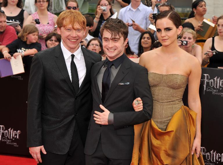Harry's best friends, Ron Weasley and Hermione Grainger