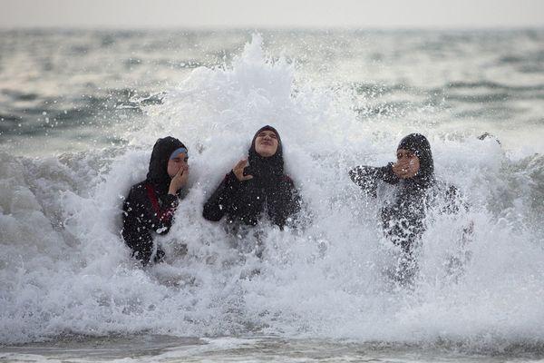 Palestinian Celebrating Ramadan's End