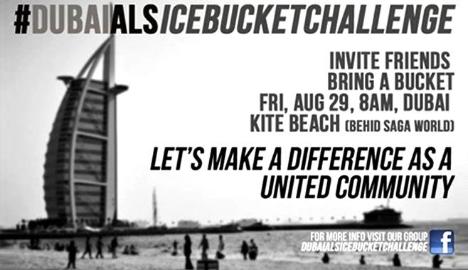 ice bucket challenge dubai