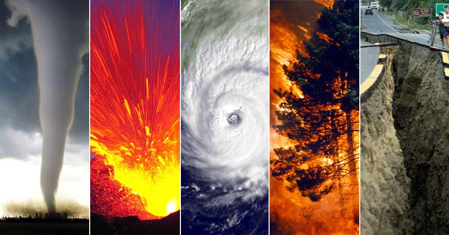 Natural Disaster Hurricanes And Tornadoes